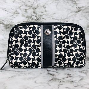 COACH Black & White Cosmetic Bag